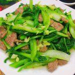 Thịt bò xào cải ngồng