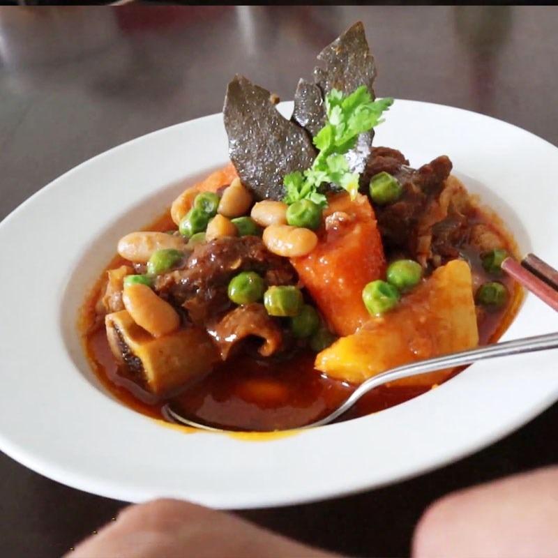 Sườn bò nấu đậu