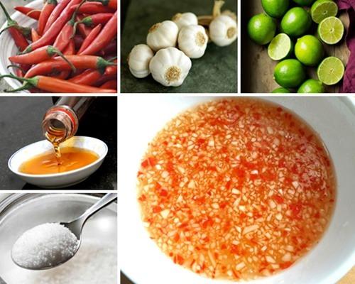 Cách pha nước mắm chua ngọt